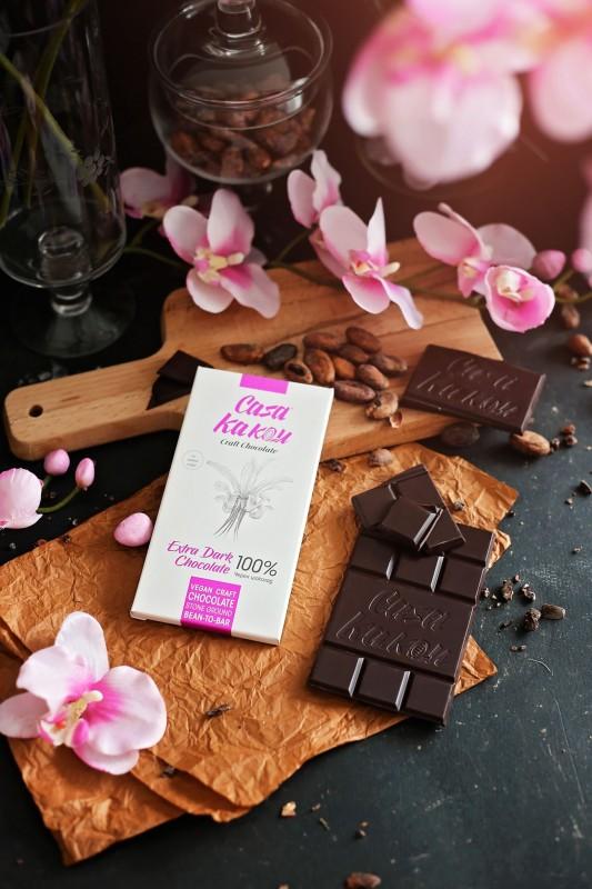 Занаятчийски, ръчен черен шоколад Casa Kakau без захар