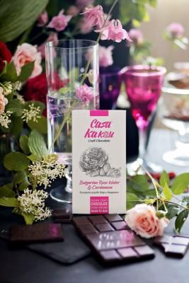 Занаятчийски, ръчен шоколад Casa Kakau българска розова вода и кардамон