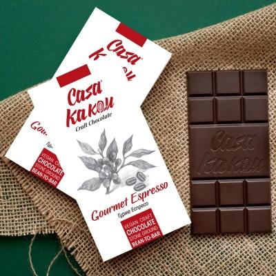 Занаятчийски, ръчен шоколад Casa Kakau Гурме Еспресо