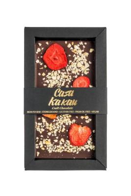 Занаятчийски, ръчен шоколад Casa Kakau ягоди и лешници