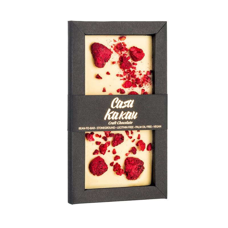 Веган бял шоколад Casa Kakau малини