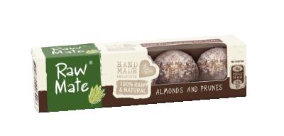Бонбони с бадеми и сушени сливи Raw Mate