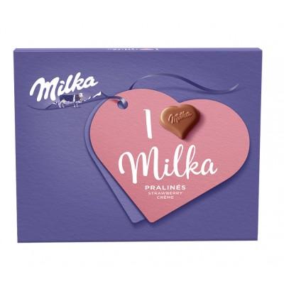 Бонбони I Love Milka Ягодов крем