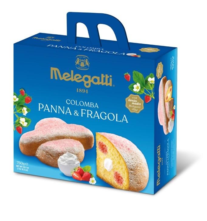Козуначен сладкиш Melegatti  Colomba сметана и ягоди