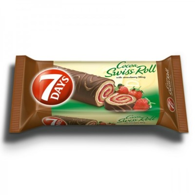 Руло с глазура 7 Days Swiss Roll ягода