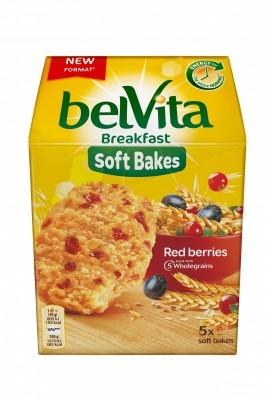 Бисквити belVita Soft Bakes Червена боровинка