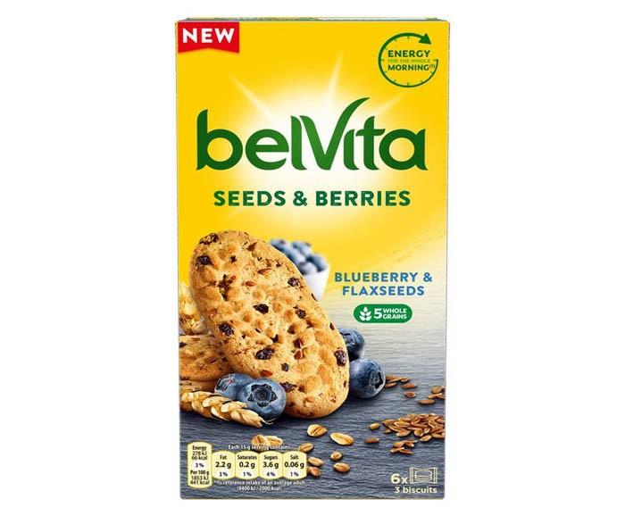 Бисквити belVita Боровинки и ленено семе