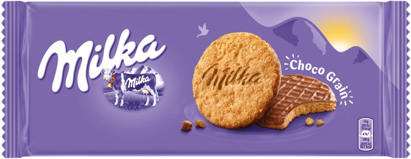 Бисквити Milka Пълнозърнести