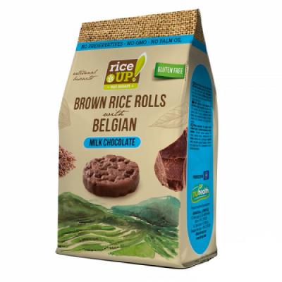 Мини Оризовки Rice Up Белгийски Млечен Шоколад