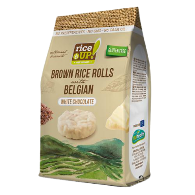 Мини Оризовки Rice Up бял Белгийски Шоколад