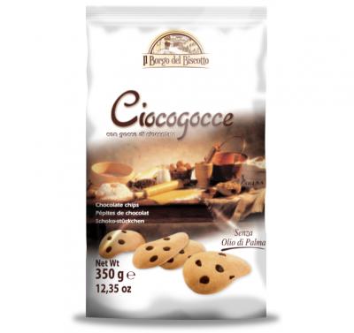 Бисквити Borgo del Biscotto с парченца шоколад