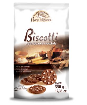 Бисквити Borgo del Biscotto с какао и лешници