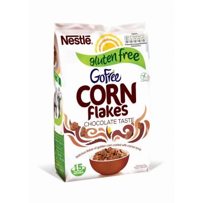 Зърнена закуска Nestle Corn Flakes без глутен шоколад