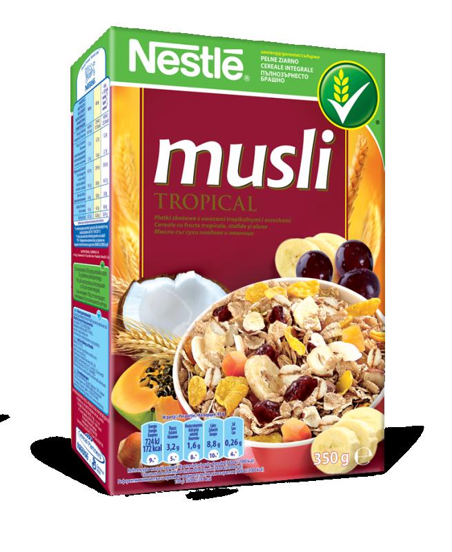 Зърнена закуска Nestle Musli тропик