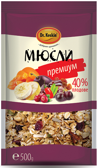 Мюсли Премиум 40% плодове Dr.Keskin