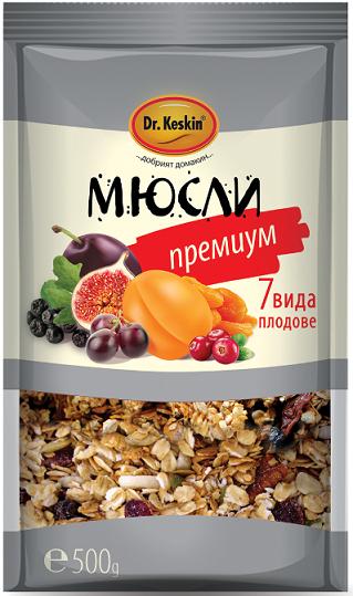 Мюсли Премиум 7 вида плодове Dr.Keskin