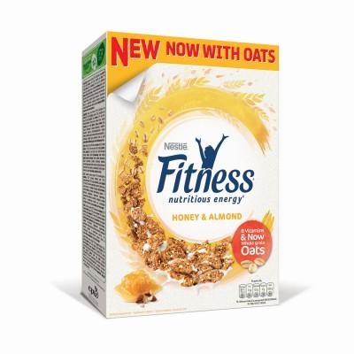 Зърнена закуска Nestle Fitness мед и бадеми