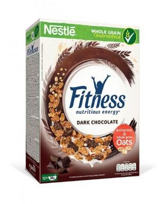 Зърнена закуска Nestle Fitness тъмен шоколад