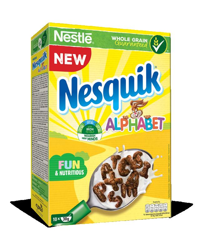 Зърнена закуска Nestle Nesquik азбука