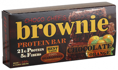Протеинов бар Brownie портокал и шоколад