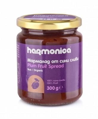 БИО Мармалад от сини сливи Harmonica  без добавена захар