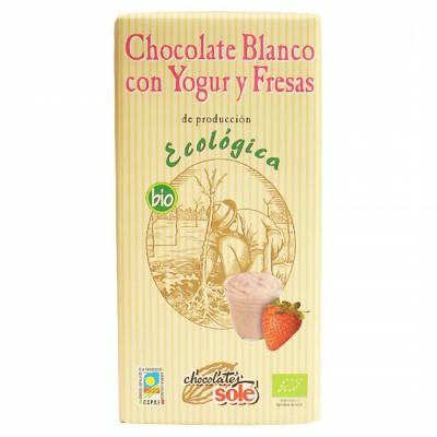 БИО Бял шоколад Sole с ягода и йогурт