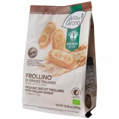 БИО Пшенични бисквити  La via del Grano без яйца и мляко
