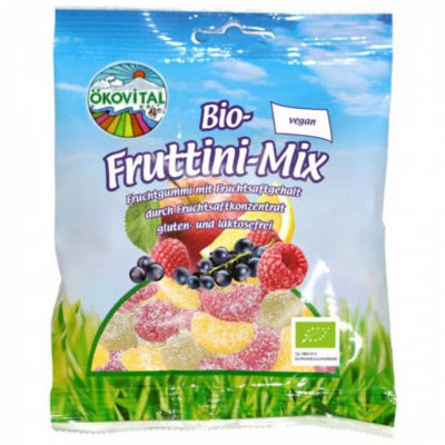 БИО Плодови бонбони  OKOVITAL Fruttini mix