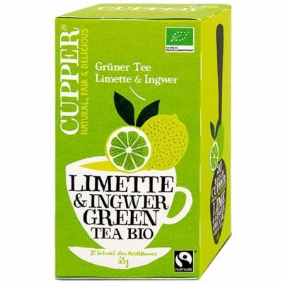 БИО Зелен чай Cupper лайм и джинжифил