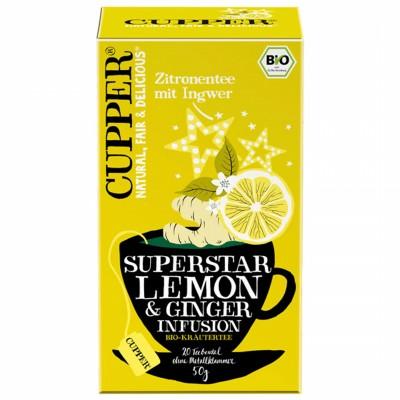 БИО Чай Cupper лимон и джинжифил
