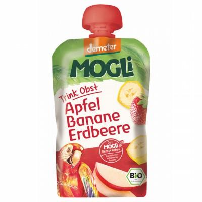 БИО Пюре Mogli ябълка, банан, ягода