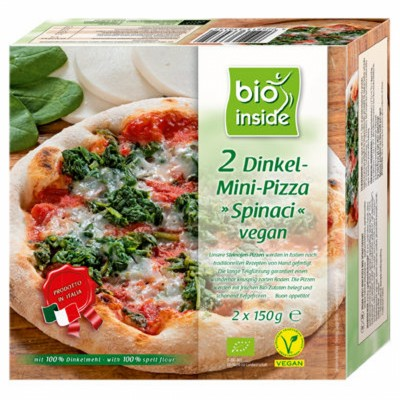 БИО Вегетариански мини пици Natural Cool спелтови със спанак