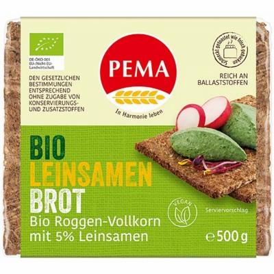 БИО Ръжен хляб PEMA с ленено семе