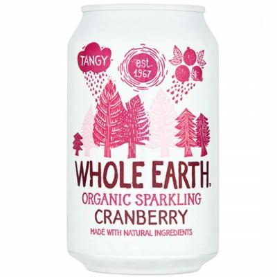 БИО Газирана напитка WHOLE EARTH червена боровинка