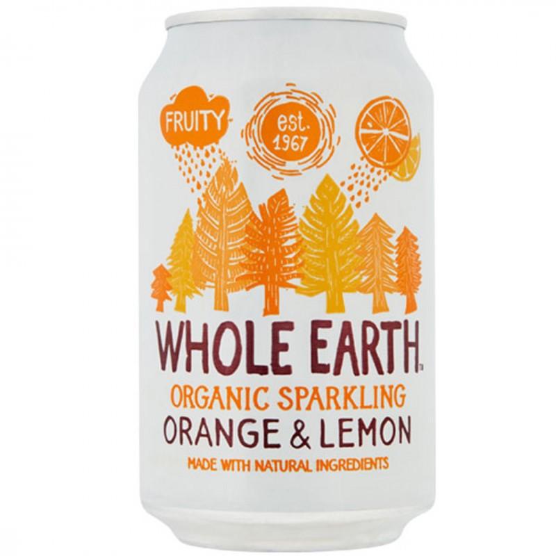 БИО Газирана напитка WHOLE EARTH портокал и лимон