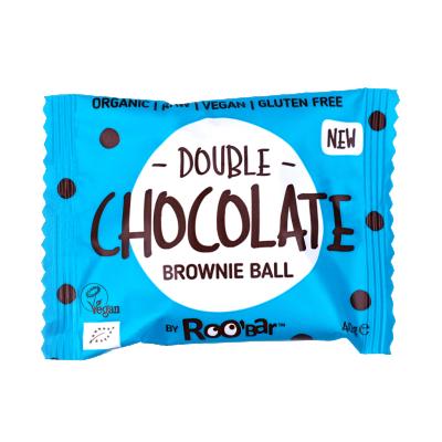 БИО Суров десерт Roobar Brownie Ball двоен шоколад