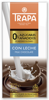 Млечен шоколад Trapa без захар