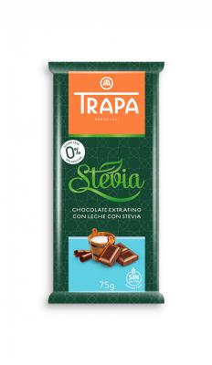 Млечен шоколад Trapa със стевия
