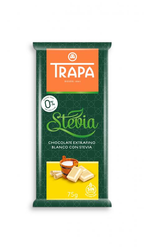Бял шоколад Trapa със стевия