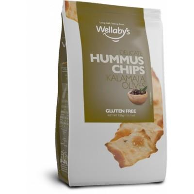 Безглутенов чипс от хумус Wellaby's с маслини каламата